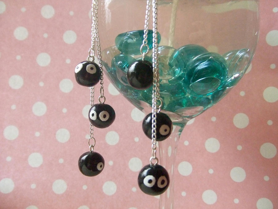 Soot Sprite Dangle Earrings by manditaaknfv