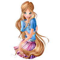World of Winx - Flora Daily Style Png by MagicWinx12