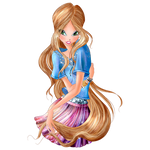 World of Winx - Flora Daily Style Png