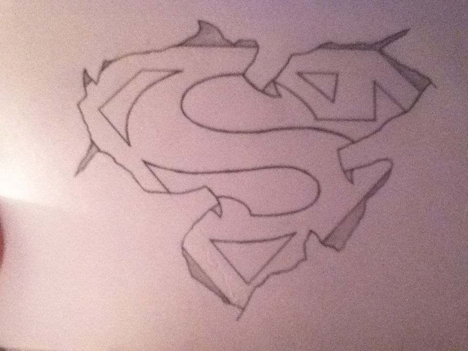 superman logo tattoo idea by tessiia - Tattoo Idea Designs