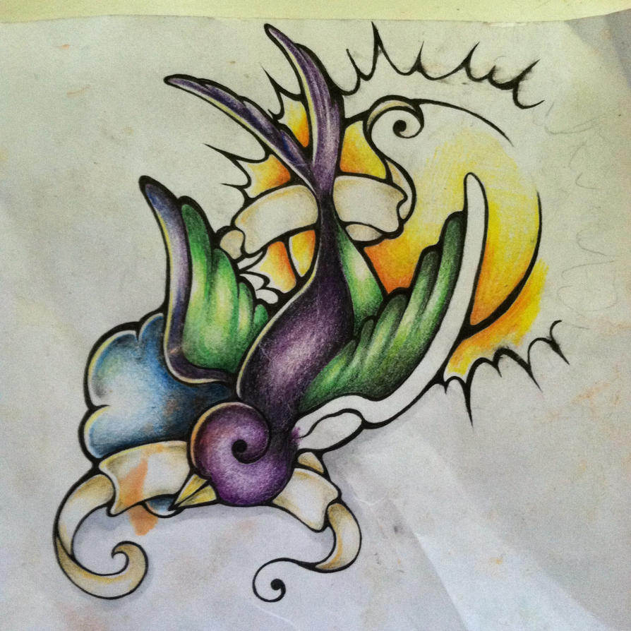 swallow tattoo design by itsredbitch on deviantart. Black Bedroom Furniture Sets. Home Design Ideas