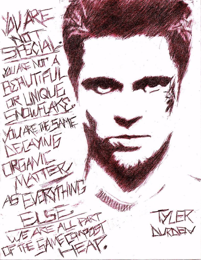 FIGHT CLUB - Tyler Durden by MovieGeek323