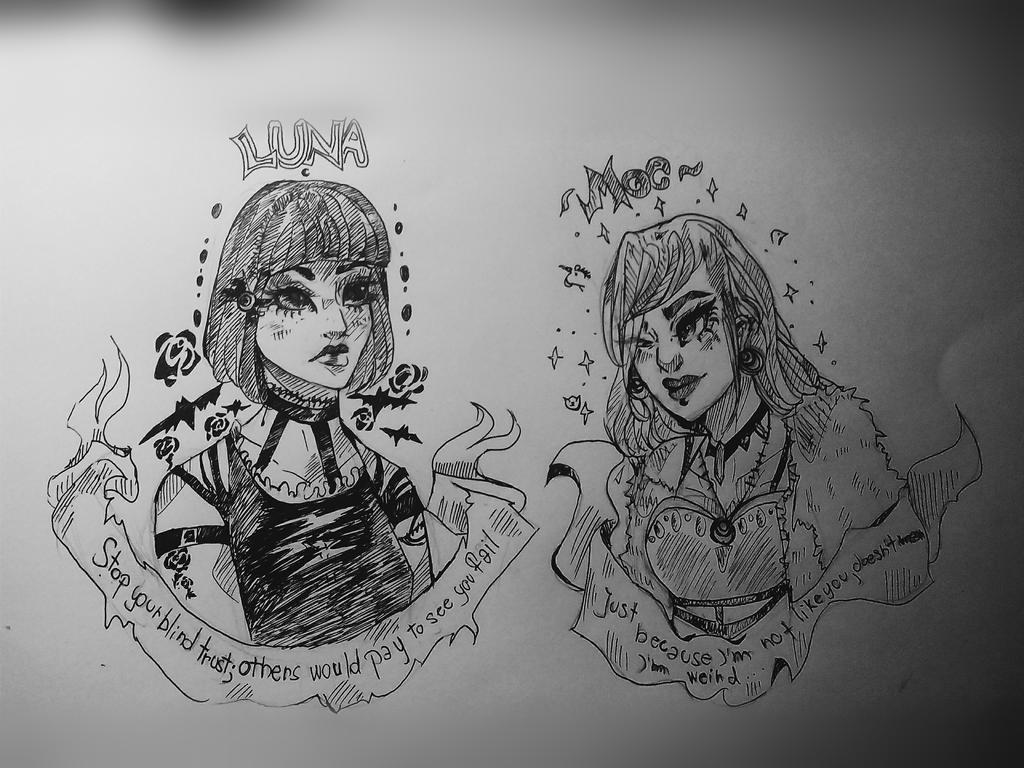 Ugly doodles by FabuNeko19