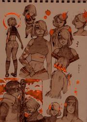 Memories (sketches dump) by FabuNeko19