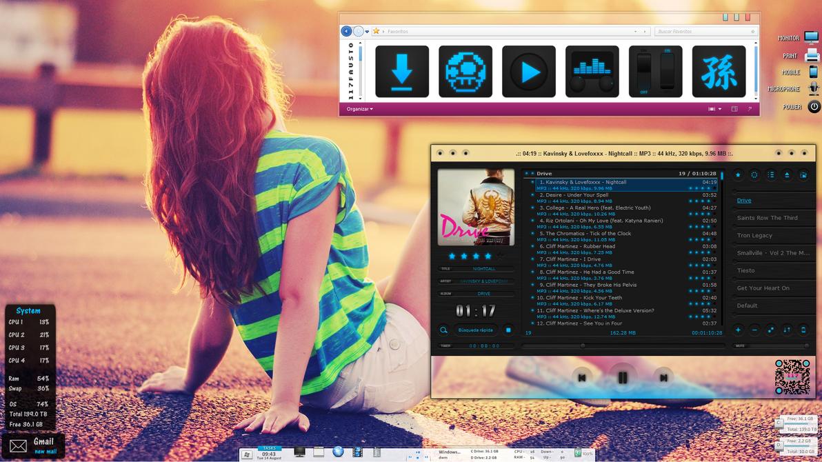 Tema para Windows 7 Nightcall by 117fausto