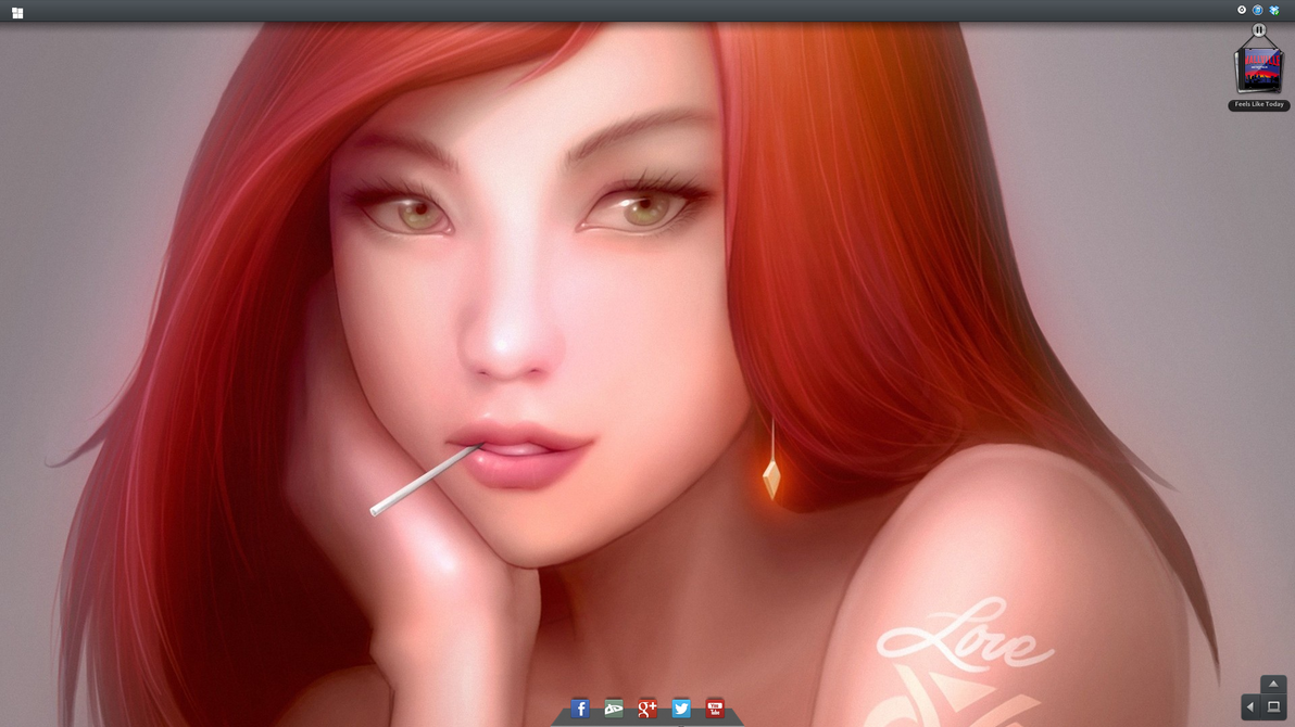 Tema para windows 7 Hebe by 117fausto
