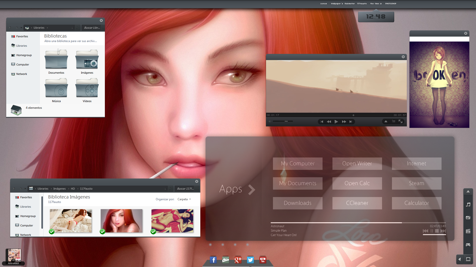 Tema para windows 7 Hebe-2 by 117fausto