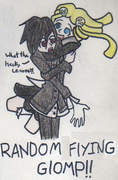 Random Flying Glomp by Blue-Vampire-Queen