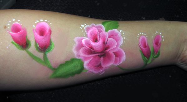 Rose Face Paint by PlaceboFX