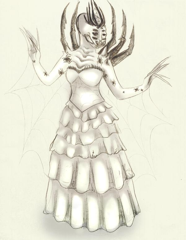 Spider Queen Concept Sketch by PlaceboFX
