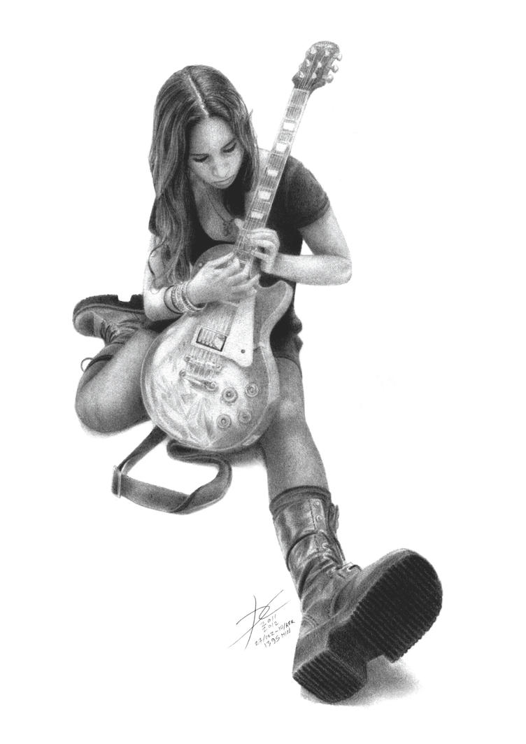 Pitty and her guitar by danielcunha99x