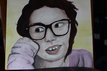 watercolor portrait of a frnd