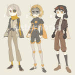 (2\3 OPEN) BEE HUMANOID ADOPTABLES by aeternoria