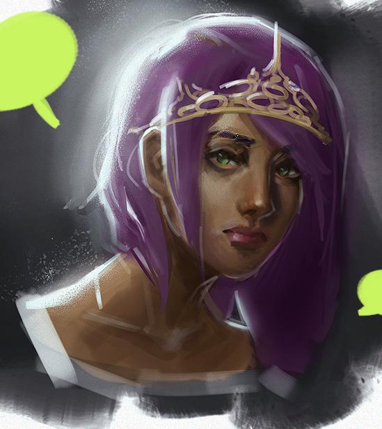 Purple Princess by ArtOfhKm