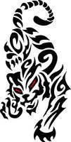 tribal tiger by evilneil