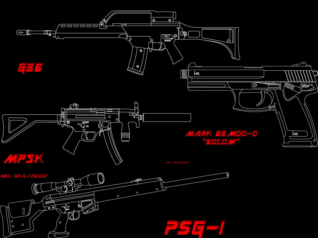 Heckler And Koch Wallpaper HECKLER AND KOCH by evilneil