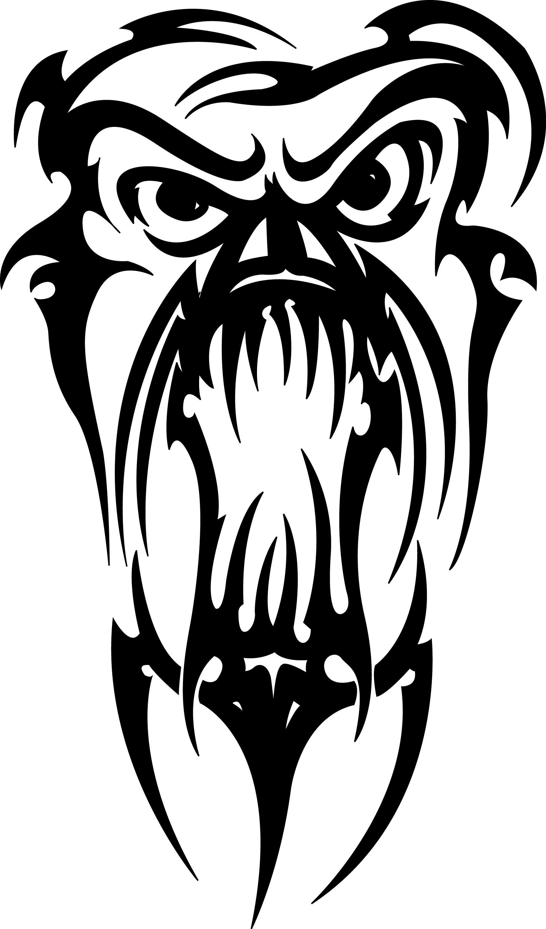 Bear Head Tribal Tattoo