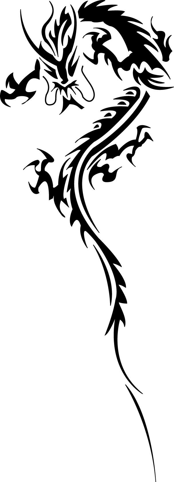 Tribal Dragon by evilneil