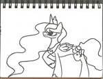 MLP: Princess Luna Lineart