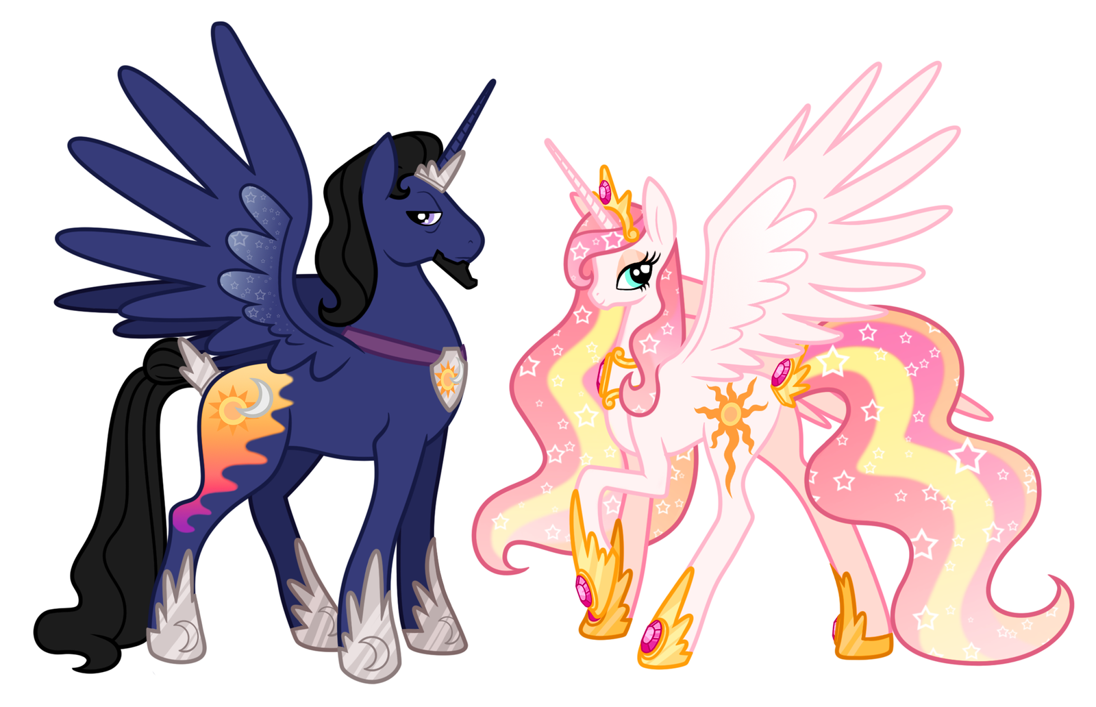King And Queen Of Equestria By Alexkingofthedamned On