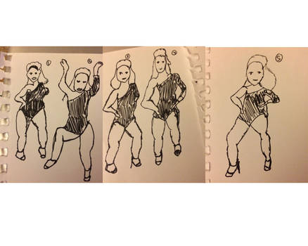Inktober Day # 20: dance moves
