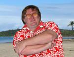 Gabe on a beach