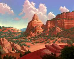 Lush desert by SELONUS