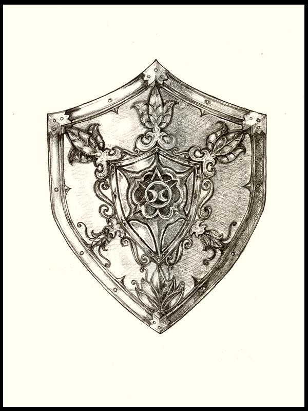 Michael Herring Art - Shield - Drawing