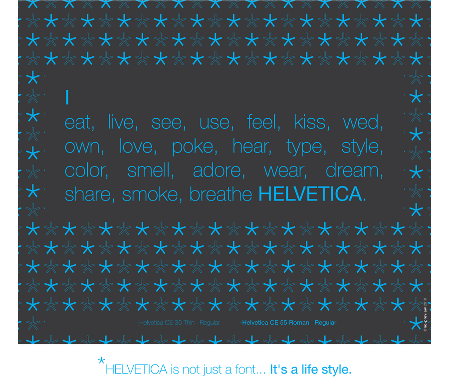 helvetica style by no preview d30seaz Digital Art Inspiration Through Text Art & Typography