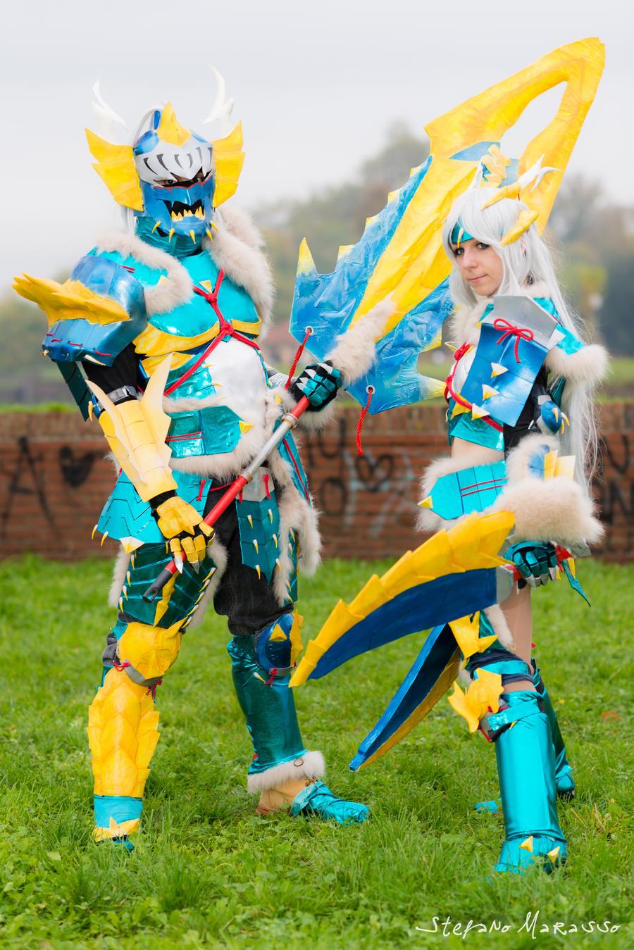 Jinouga armor cosplay by HeavenAndSky