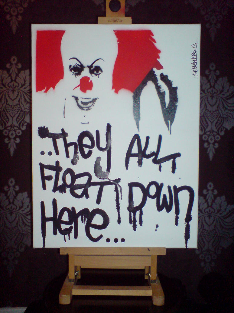 pennywise canvas by devotheproducer on pennywise canvas 1 by devotheproducer