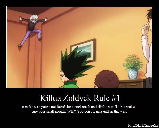 Killua Zoldyck Rule #1 by xXdarkXmageXx