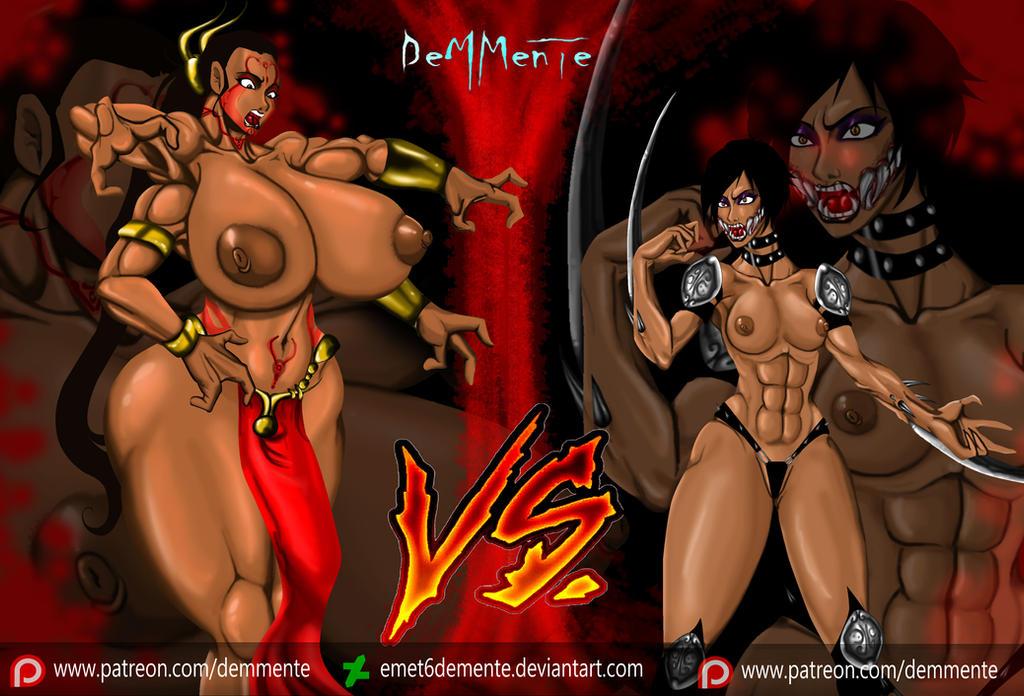 Shokan vs. Tarkatan Katfight. by EMET6demente