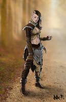 Wild Elf by lordsenneian
