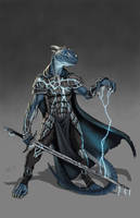 Dragonborn Cleric by lordsenneian