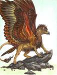 Mackle the Firebird Griffin by randomflyingpigeons