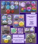 DEAL WITH IT - Pride Buttons With Attitude