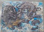 Eastern Dragon drawn from limited materials