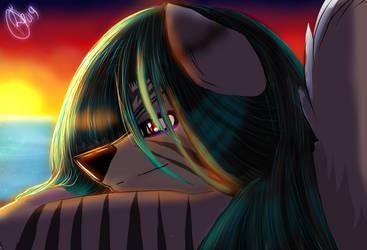 Sunset Gazing by Umeko