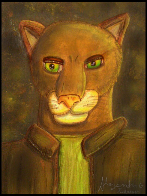 Dan (the puma of eyes green) by tigrisssilvery