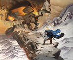 Glorfindel Against The Balrog