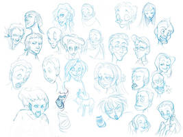 STUDY: Facial Expressions by sererena