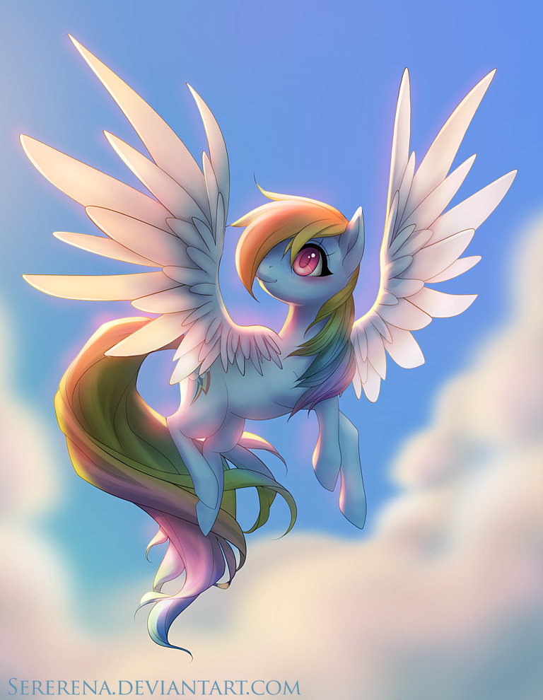 Rainbow Dash by sererena