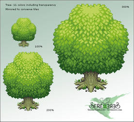 Pixel Tree by sererena