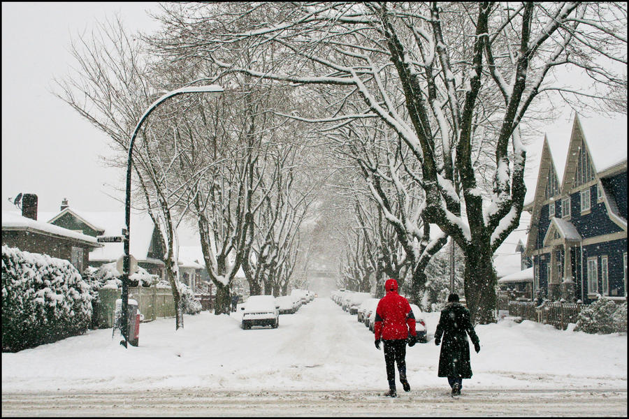 Snow Covered Side Streets