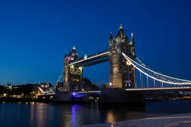 Lights of Tower Bridge by mark1624