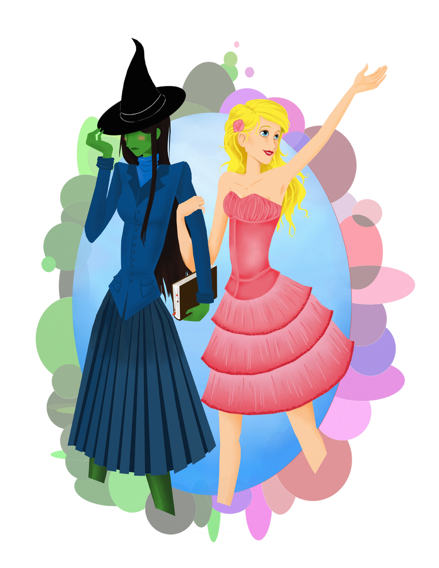 Elphaba and Garlinda by Schokomuff