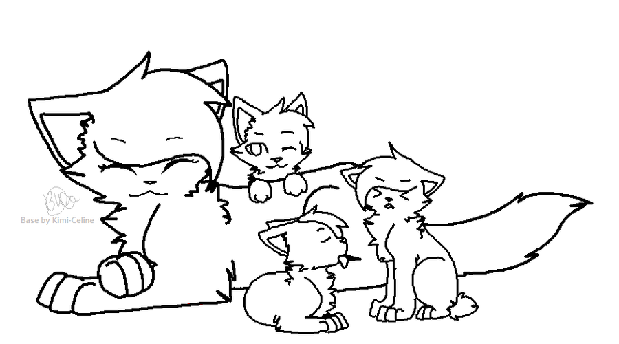 Mother And Kits For Warrior Cat Base Ms Paint Pictures To