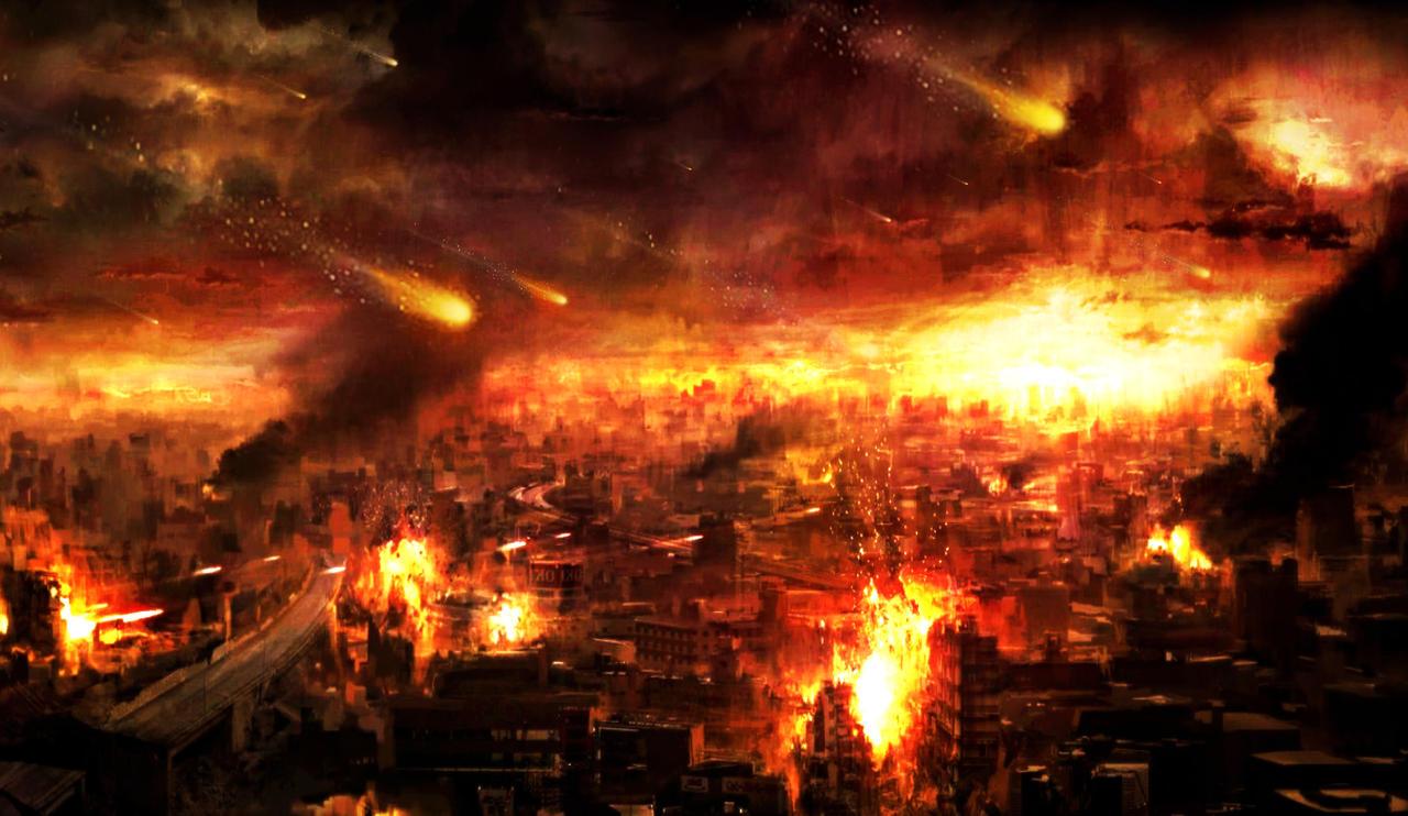 fire apocalypse background - photo #4