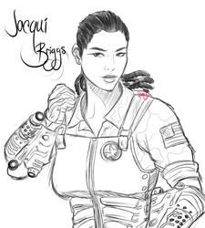 Jacqui Briggs WIP by JassyCoCo